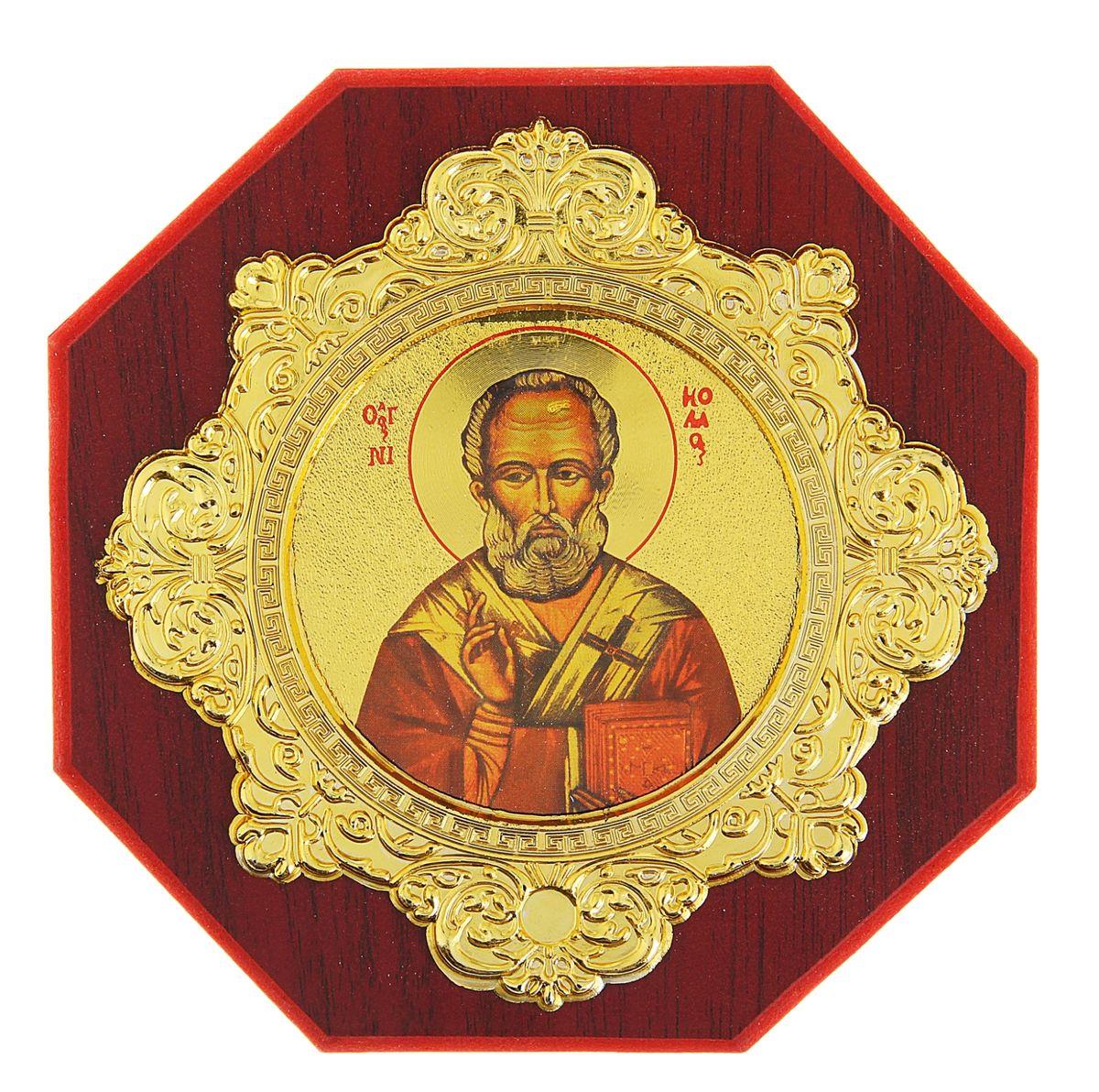 Икона в рамке Sima-land, 14 х 14 см121845Икона Sima-land представляет собой святое изображение на деревянной подставке, украшенной ажурной рамкой. Благодаря подставке икону удобно располагать на столе. Икона полностью соответствует канонам Русской Православной Церкви. Такая икона будет прекрасным подарком с духовной составляющей.
