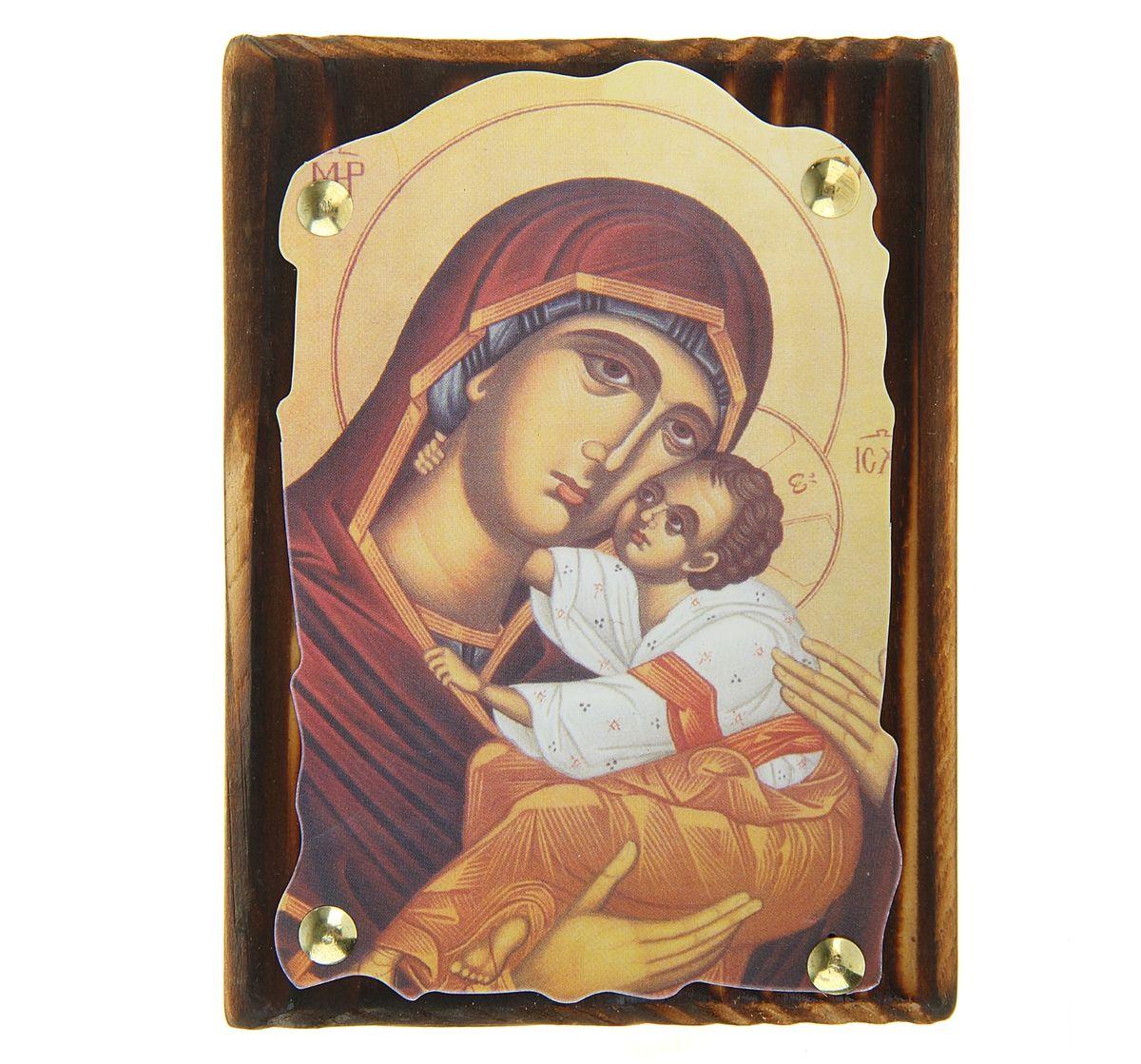 Икона Пресвятая Богородица, 10,5 см х 14,5 см икона янтарная почаевская богородица
