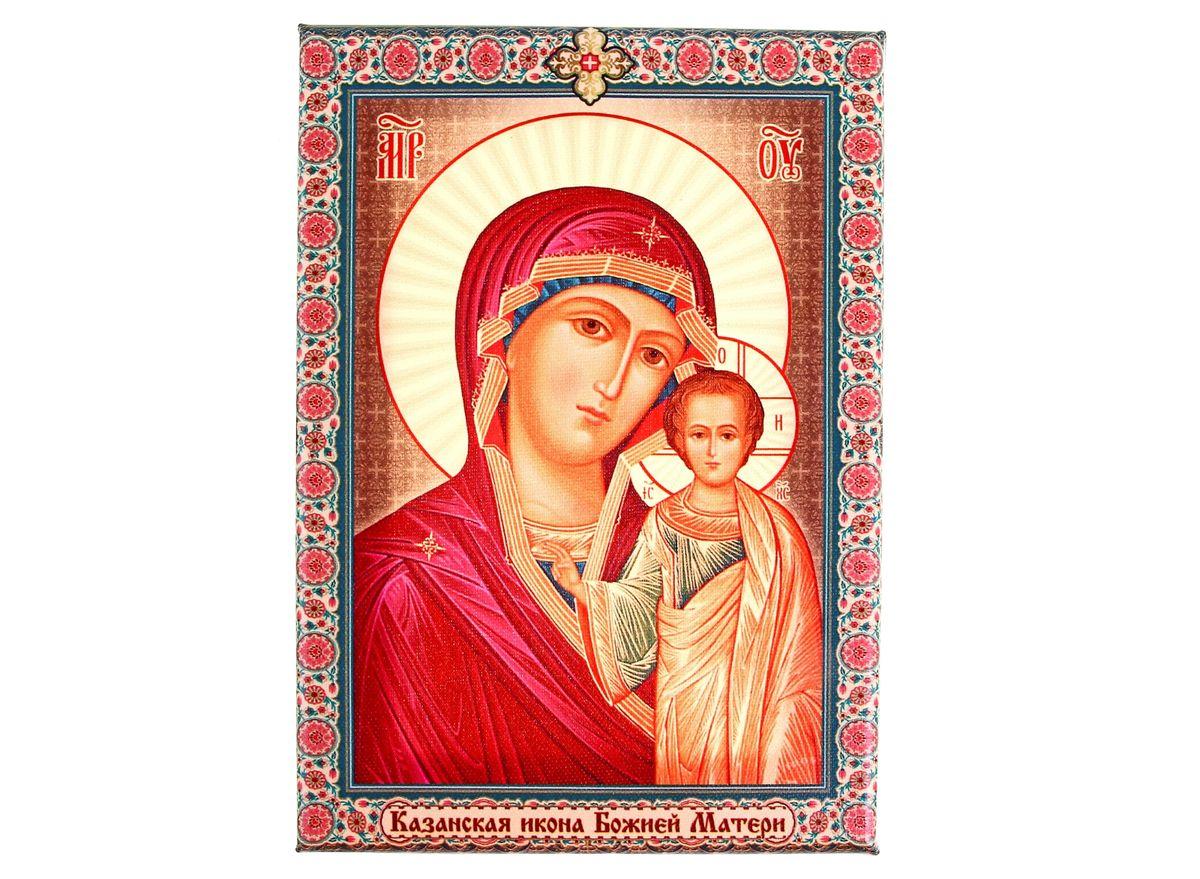 Икона Казанская икона Божией Матери, 14,5 х 20,5 см