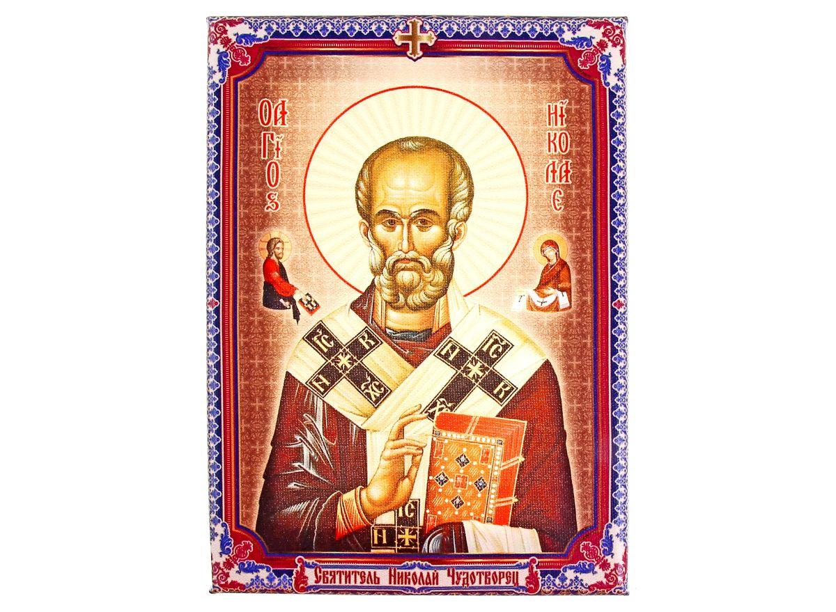 Икона Святитель Николай Чудотворец, 14,5 х 20,5 см икона галерея благолепия икона святой николай чудотворец 3 юл 09