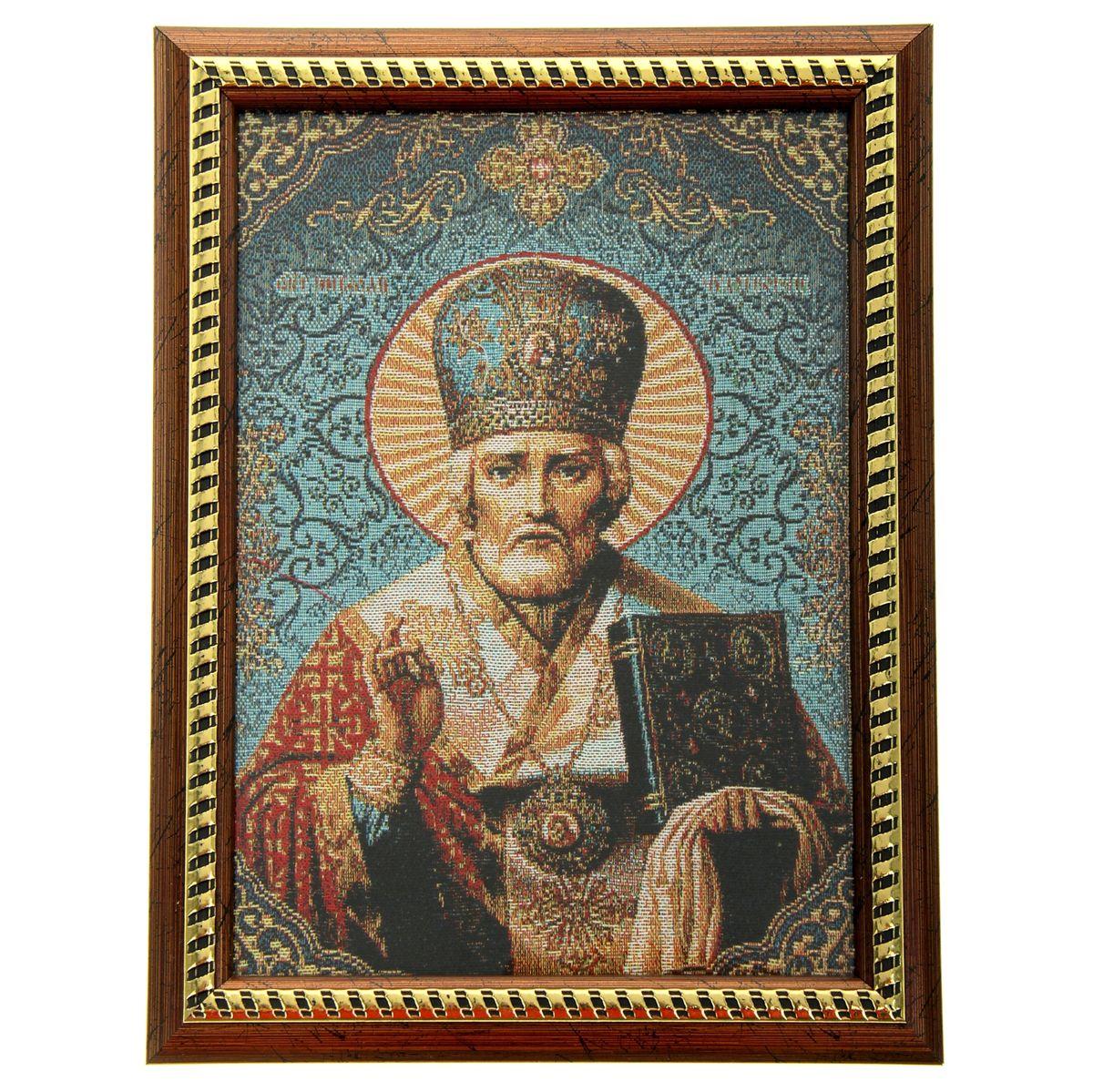 Икона в рамке Святитель Николай Чудотворец, 21 х 27,5 см икона галерея благолепия икона святой николай чудотворец 3 юл 09