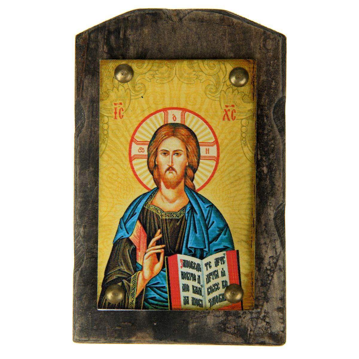 Икона на дереве Господь Вседержитель, 9,5 х 15 см икона святой никита
