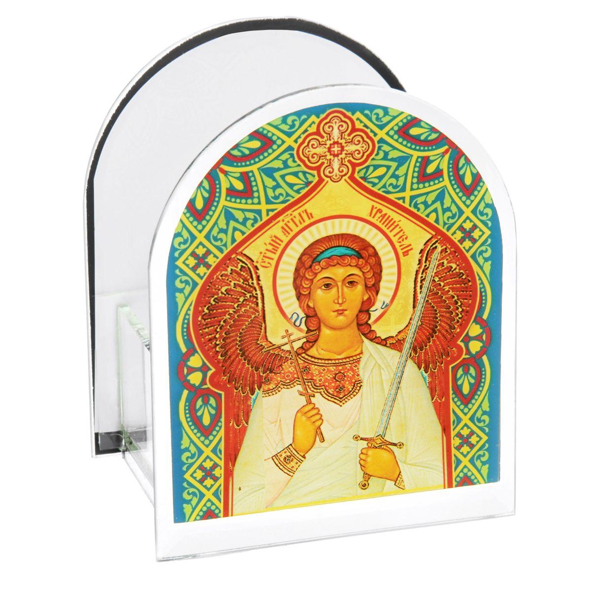 Подсвечник Sima-land Ангел Хранитель842468Подсвечник Sima-land Ангел Хранитель изготовлен из качественного стекла, предназначен для свечи в гильзе. С одной стороны подсвечника изображен лик святого, с другой стороны нанесена молитва. Зажгите свечку поставьте ее в подсвечник и наслаждайтесь теплом, которое наполнит ваше сердце.Такой подсвечник привнесет в ваш дом согласие и мир и будет прекрасным подарком, оберегающим близких вам людей. Размер подсвечника (ДхШхВ): 9 см х 7 см х 11 см.Диаметр отверстия для свечи: 4,5 см.