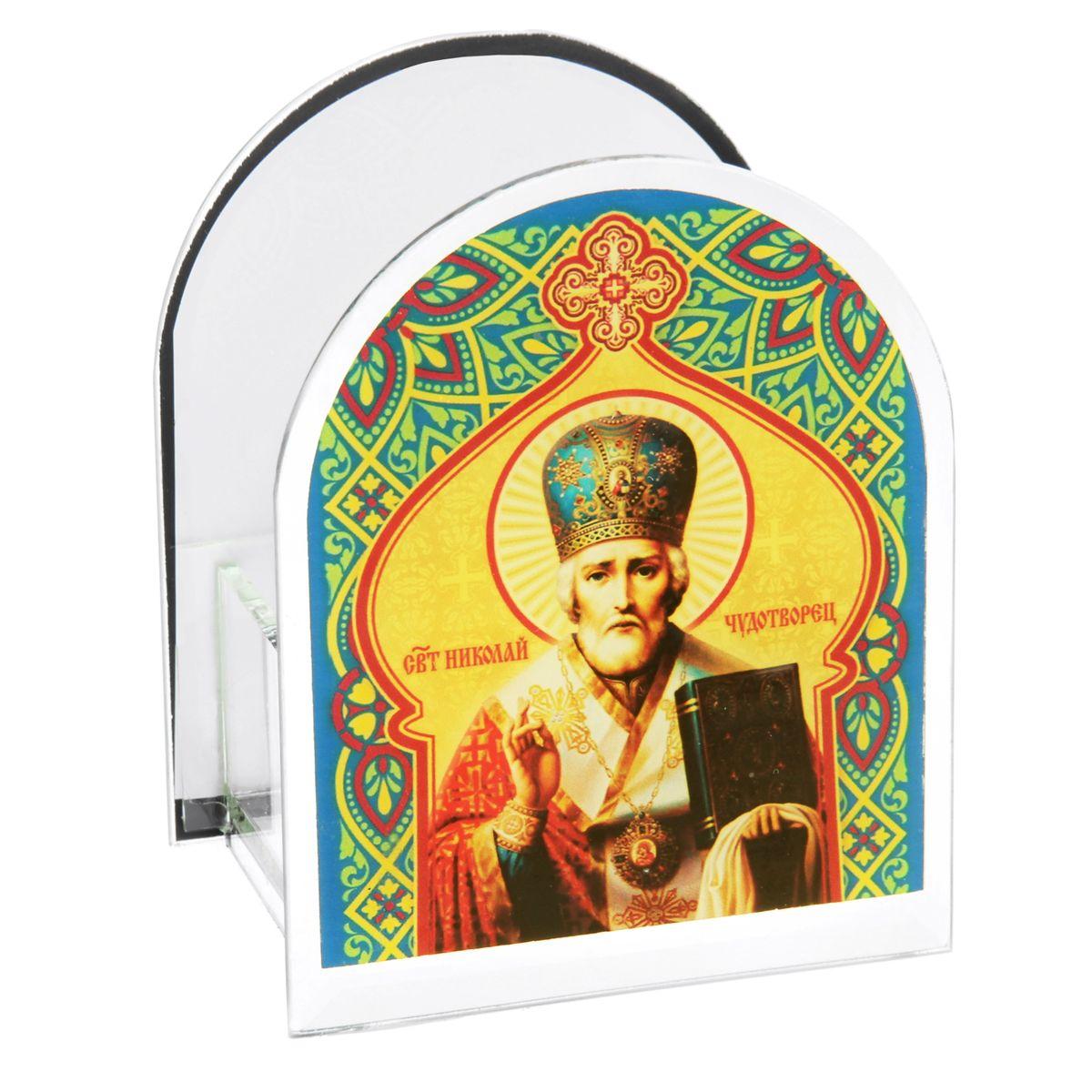 Подсвечник Sima-land Святой Николай Чудотворец икона янтарная святой николай чудотворец иян 2 705