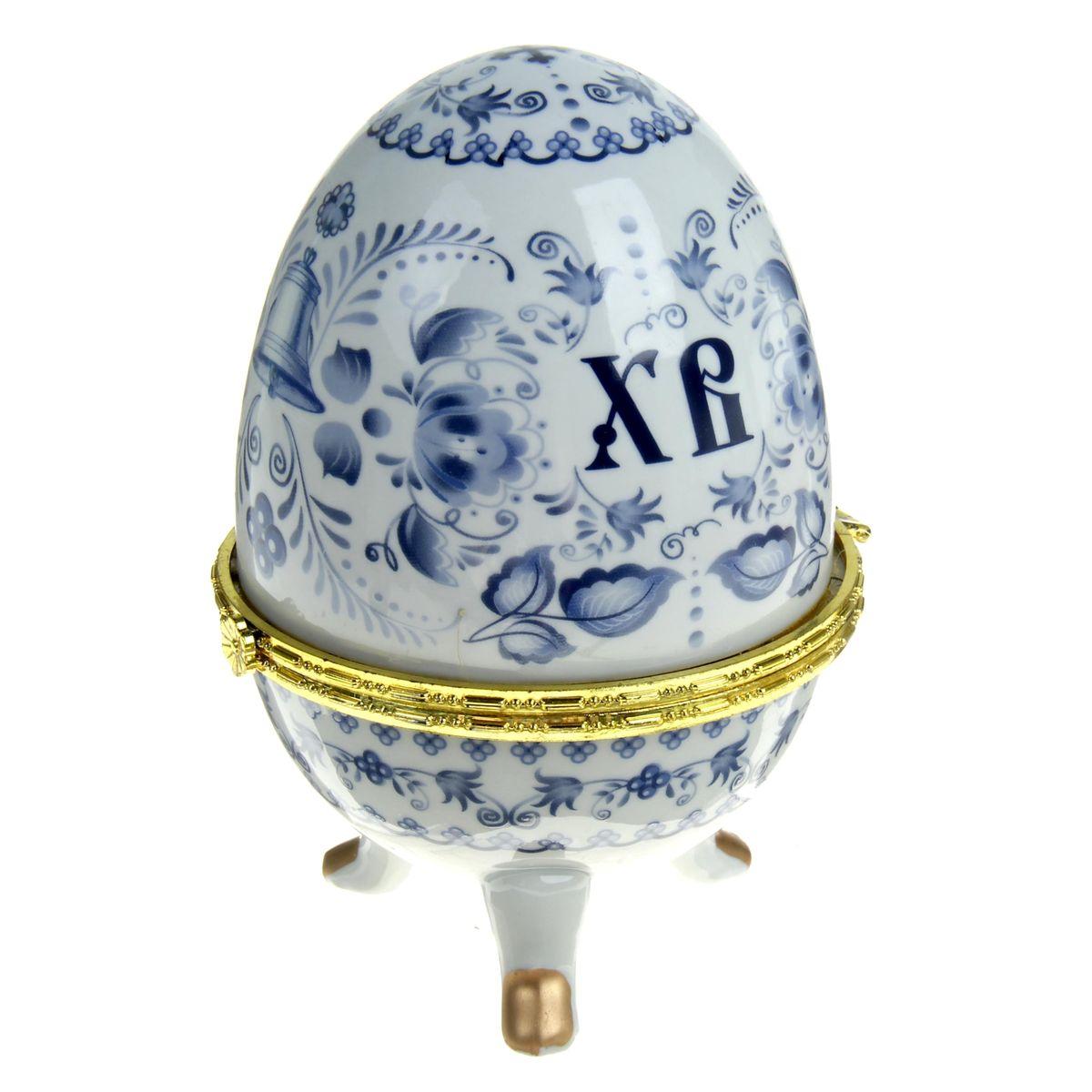 Яйцо-шкатулка Sima-land Гжель, высота 15 см