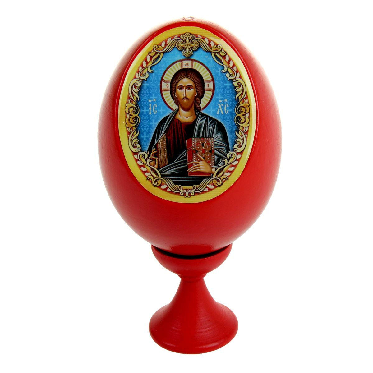 Яйцо декоративное Sima-land Господь Вседержитель, на подставке, высота 11 см