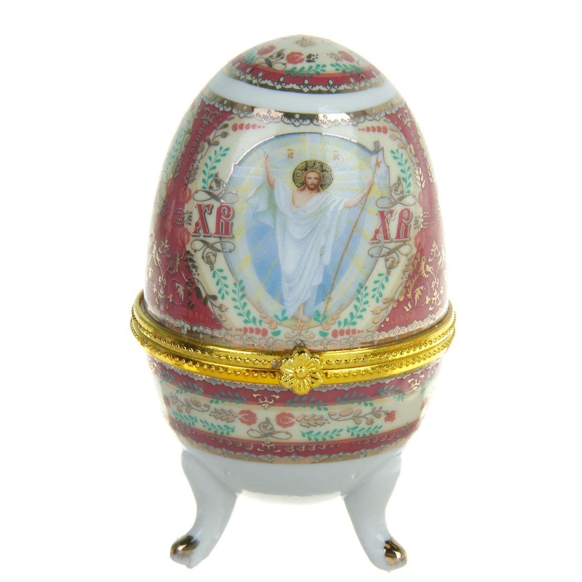 Яйцо-шкатулка Sima-land Воскресение Христово, высота 10 см ваза sima land серебряная роза высота 18 см page 2