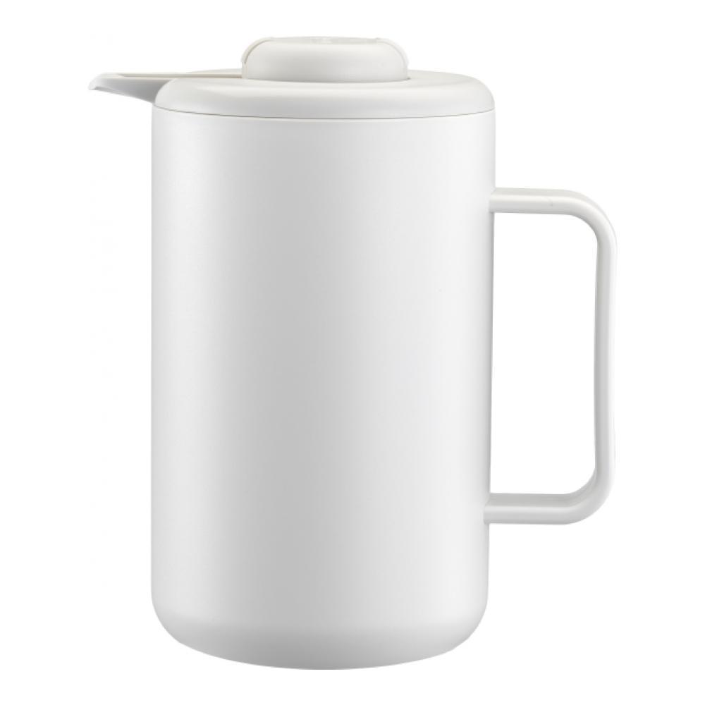 Термокувшин Bodum Bistro, цвет: белый, 1 л кофейник bodum brazil с прессом цвет белый 1 л