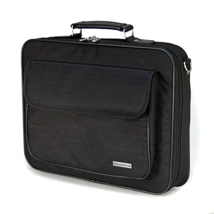 Continent CC-03, Black сумка для ноутбука 15,6CC-03 BlackContinent CC-03 - строгая и удобная сумка для переноски и защиты ноутбука.Благодаря своим полноформатным размерам сумка просто незаменима для деловых людей - столько в ней отделений для бумаг и документов. А благодаря своей стильной элегантной форме и цветовым решениям - будет интересна молодым и энергичным людям. Если Вы возите ноутбук с собой на работу, в путешествия, или просто часто берете его с собой, то на своем опыте убедились, что сумка для ноутбука просто необходима.