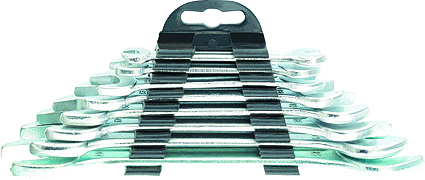 Наборрожковых ключей Sparta, 8 шт152755Набор рожковых ключей Sparta станет отличным помощником монтажнику или владельцу авто. Этот набор обеспечит надежную фиксацию на гранях крепежа. Ключи изготовлены из углеродистой стали. Твердость материала рабочей части 42 HRc (требования ГОСТ - 41-46 HRc). Имеют надежное защитное покрытие из хрома. В набор входят ключи на 6 мм, 8 мм, 10 мм, 13 мм, 15 мм, 16 мм, 19 мм, 20 мм.
