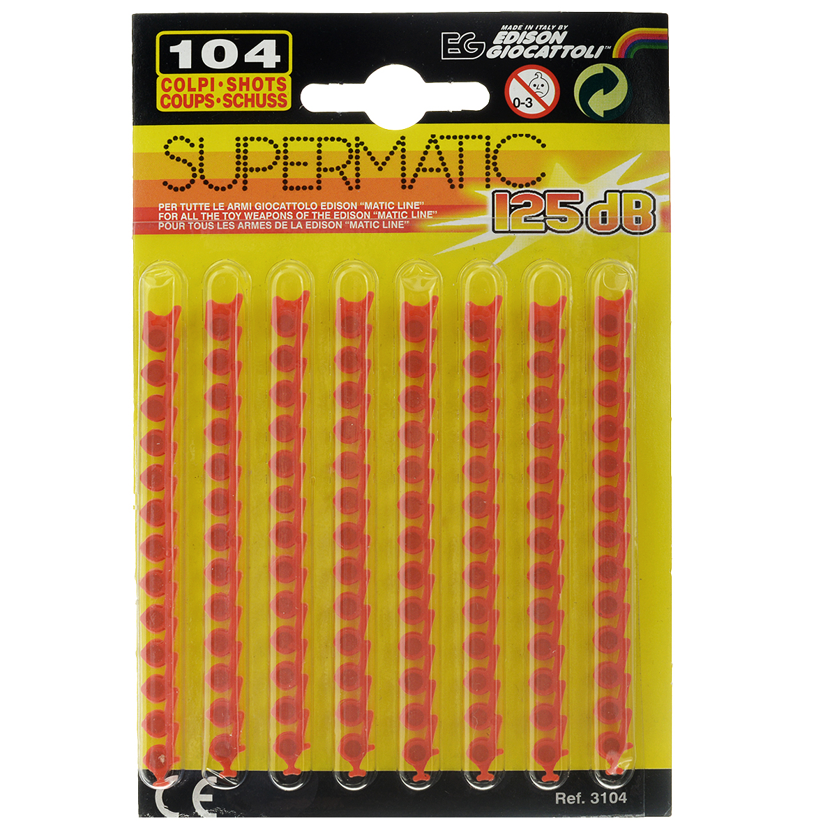 Пистоны Supermatic, 13-зарядные, 104 шт пистоны wicke euro caps 100 зарядные 600 шт