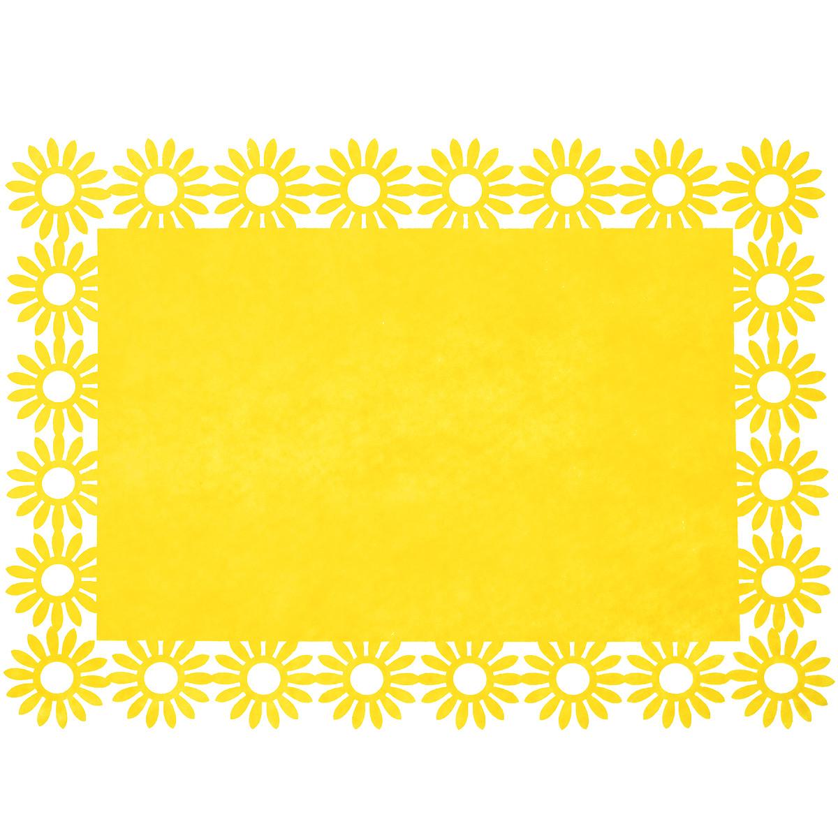 Салфетка Home Queen Веселый праздник, цвет: желтый, 30 х 40 х 0,2 см66843_3Прямоугольная салфетка Home Queen Веселый праздник выполнена из фетра и имеет красивую перфорацию по краям.Вы можете использовать салфетку для декорирования стола, комода, журнального столика. В любом случае она добавит в ваш дом стиля, изысканности и неповторимости и убережет мебель от царапин и потертостей. Размер салфетки: 30 см х 40 см х 0,2 см.