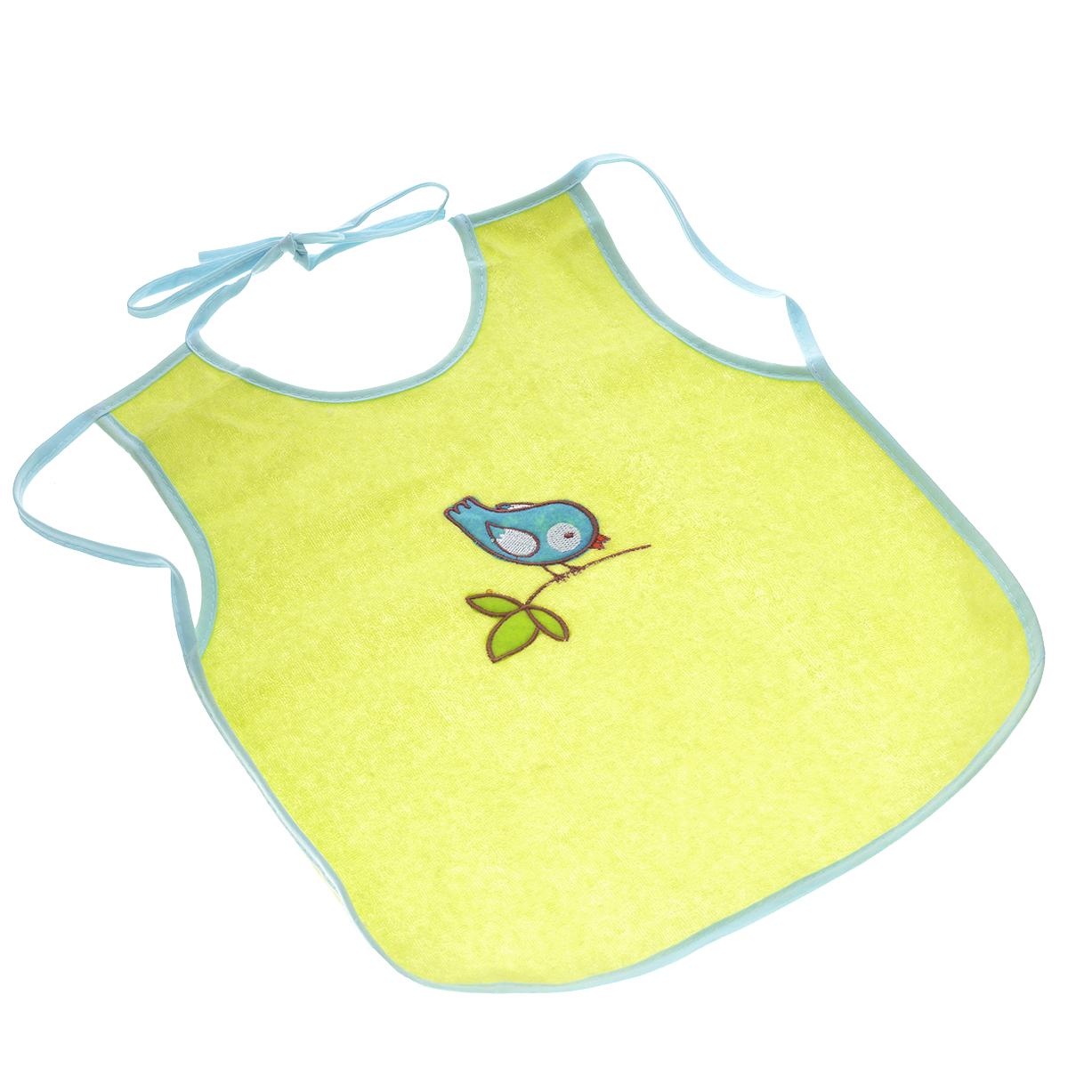 Слюнявчик-фартук Мир детства, цвет: салатовый фиксатор двери мир детства мишка