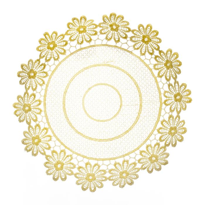 Тарелка декоративная Home Queen Ромашки, цвет: кремовый, диаметр 28,5 см64292Тарелка Home Queen Ромашки предназначена для украшения интерьера и сервировки стола. Изделие выполнено из полиэстера с красивым плетением по краям в виде цветочных узоров, имеет жесткую форму. Такая оригинальная тарелка станет ярким украшением стола. Идеальный вариант для хранения пасхальных яиц, хлеба или конфет.Диаметр тарелки: 28,5 см.Высота тарелки: 5 см.