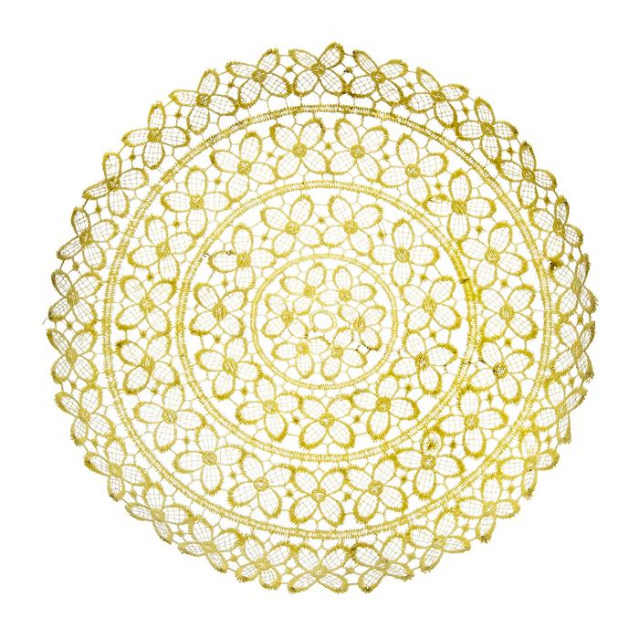Тарелка декоративная Home Queen Клевер, цвет: кремовый, диаметр 25 см тарелка декоративная home queen зайчик в капусте диаметр 14 см