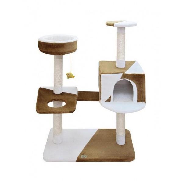 """Игровая площадка для кошек Fauna """"Camilla"""", цвет: бежевый, коричневый, 73 см х 40 см х 105 см"""
