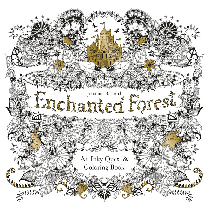 Enchanted Forest: An Inky Quest and Colouring Book through the looking glass and what alice found there