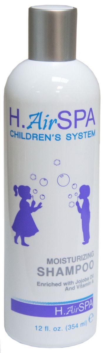 H. AirSpa Шампунь детский увлажняющий, с маслом жожоба и витамином А, 354 мл кря кря детский шампунь для самых маленьких с витамином f 200 мл