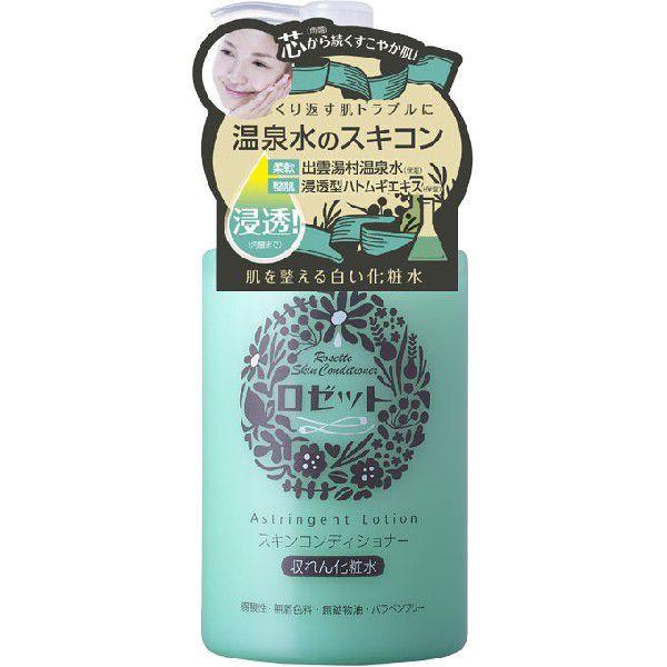 Rosette Сужающий поры лосьон Skin Conditioner на основе термальной воды для чувствительной кожи лица с экстрактами коикса, гаммамелиса, тимьяна, розмарина и шиповника, 200 мл. tend skin косметический лосьон 118 мл