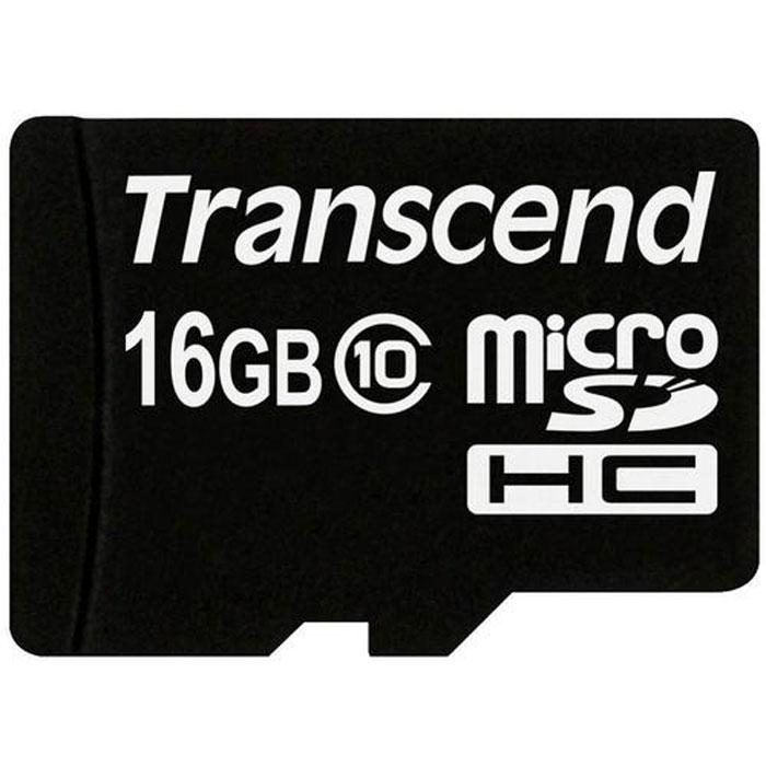 Transcend microSDHC Class 10 16GB карта памяти (TS16GUSDC10)TS16GUSDC10Карта памяти Transcend microSDHC Class 10 обладает отличными рабочими характеристиками при размере всего лишь 1/10 от размера SD карты. Продукт отличает необычайная скорость класса 10, представленная Ассоциацией SD карт в качестве новых характеристик SD 3.0, скорость записи 10 MБ/сек. гарантирована. Карта памяти microSDHC класса 10 с высокими скоростными характеристиками, большим размером памяти до 32 ГБ при минимальном размере особенно рекомендована для использования в современных мобильных устройствах.Все microSDHC карты прошли строгие тестирования на совместимость и надежность, и имеют ограниченную гарантию от компании Transcend. Каждая карта снабжена встроенным ECC (корректирующим кодом), который отвечает за автоматические обнаружение и устранение ошибок в процессе передачи данных.Внимание: перед оформлением заказа убедитесь в поддержке вашим электронным устройством карт памяти данного объема.