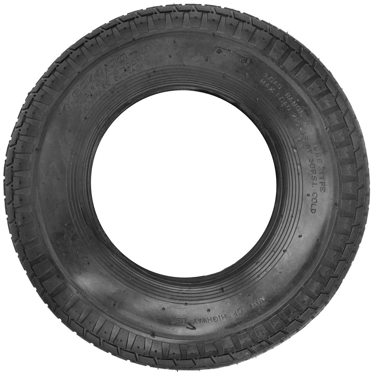 Шина запасная для колеса Fit, 4.80/4.00-8 (16 x 4)77570Шина запасная для колеса Fit является запасным элементом для тачки. Диаметр надувного колеса 16 x 4. Рабочее давление 2 атм (бар). Максимальное давление 3,2 атм (бар). Характеристики: Материал: резина. Размеры шины: 16 x 4. Размеры упаковки: 40 см х 40 см х 5 см.