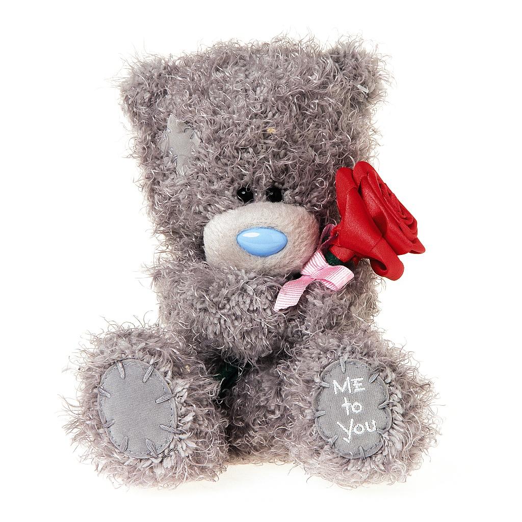 Me to You Мягкая игрушка Мишка Тедди с розой 18 см me to you мишка 13 см me to you
