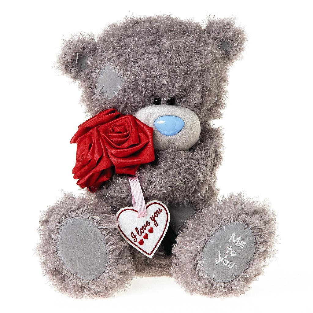 Me to You Мягкая игрушка Мишка Тедди с розами 30 см наклейка панно me to you мишка тедди и олень 16х23 см