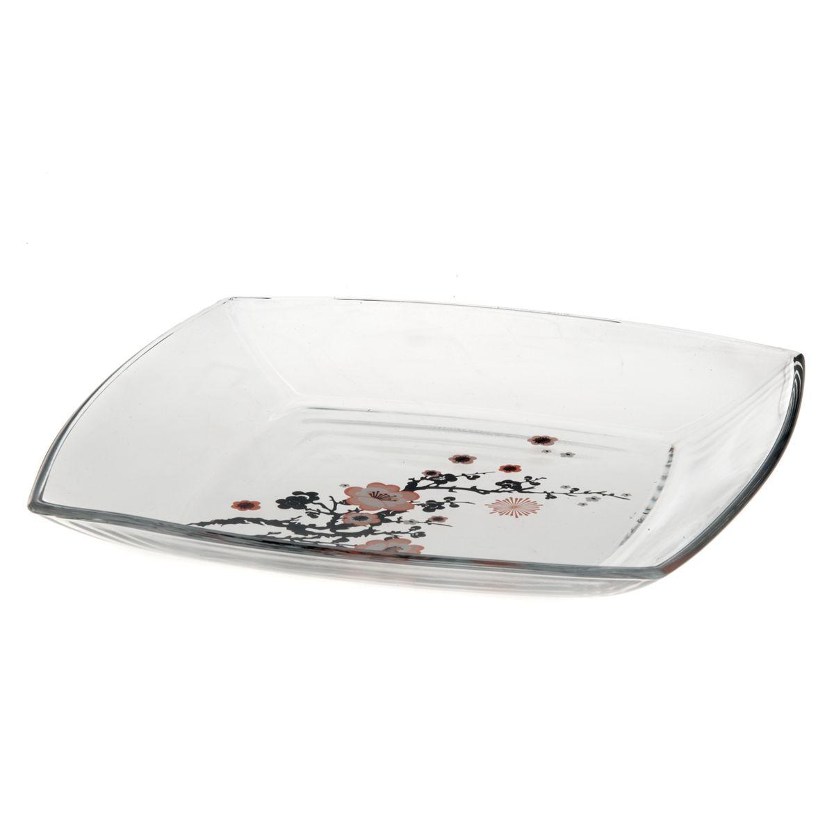 Набор тарелок Pasabahce Workshop Sakura, 26,5 х 26,5 см, 6 шт595-214Набор Pasabahce Workshop Sakura состоит из шести квадратных тарелок, выполненных иззакаленного стекла. Тарелки декорированы изображением ветки сакуры. Они сочетают в себеизысканный дизайн с максимальной функциональностью. Оригинальность оформления тарелокпридется по вкусу и ценителям классики, и тем, кто предпочитает утонченность и изящность.Набор тарелок Pasabahce Workshop Sakura послужит отличным подарком к любому празднику.Можно использовать в морозильной камере и микроволновой печи. Можно мыть впосудомоечной машине.Размер тарелки: 26,5 см х 26,5 см.Высота стенок: 2,5 см.