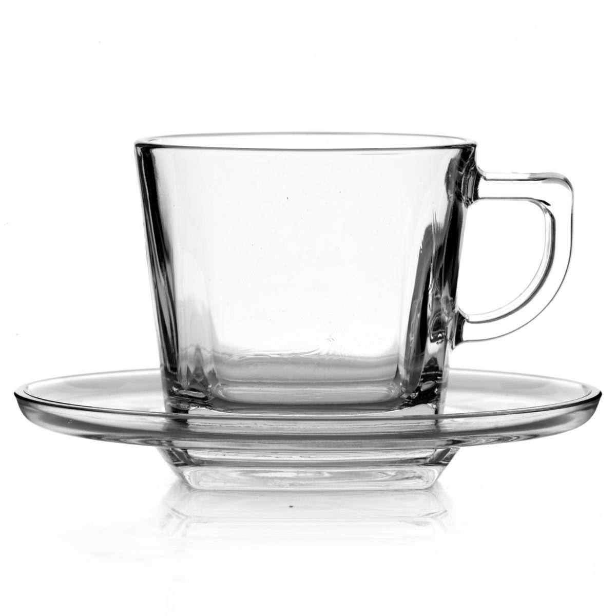 Набор чайный Pasabahce Baltic, цвет: прозрачный, 12 предметов95307BЧайный набор Pasabahce Baltic состоит из шести чашек и шести блюдец. Предметы набора изготовлены из прочного натрий-кальций-силикатного стекла. Необычная форма изделий делает этот набор оригинальным, не похожим на множество других. Изящный чайный набор великолепно украсит стол к чаепитию и порадует вас и ваших гостей ярким дизайном и качеством исполнения.Диаметр чашки (по верхнему краю): 7,5 см.Высота чашки: 7 см.Объем чашки: 215 мл.Количество чашек: 6 шт.Размер блюдца: 13 см х 13 см х 2 см.Количество блюдец: 6 шт.
