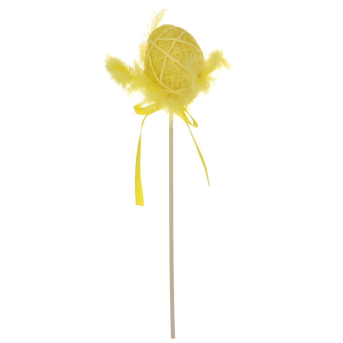 Декоративное пасхальное украшение на ножке Home Queen Яйцо с пухом. Разноцвет, цвет: желтый, высота 25 см64387_3Декоративное украшение Home Queen Яйцо с пухом. Разноцвет выполнено из полиэстера в виде пасхального яйца на деревянной ножке, декорированного перьями. Изделие украшено текстильной лентой. Такое украшение прекрасно дополнит подарок для друзей или близких на Пасху. Высота: 25 см. Размер яйца: 6 см х 4,5 см.