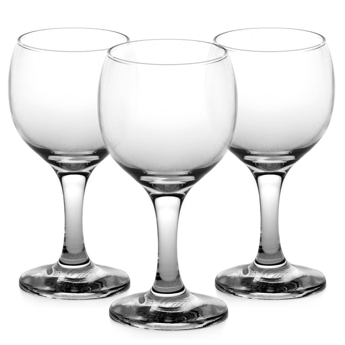 Набор бокалов для белого вина Pasabahce Bistro, 175 мл, 3 шт набор бокалов для бренди коралл 40600 q8105 400 анжела