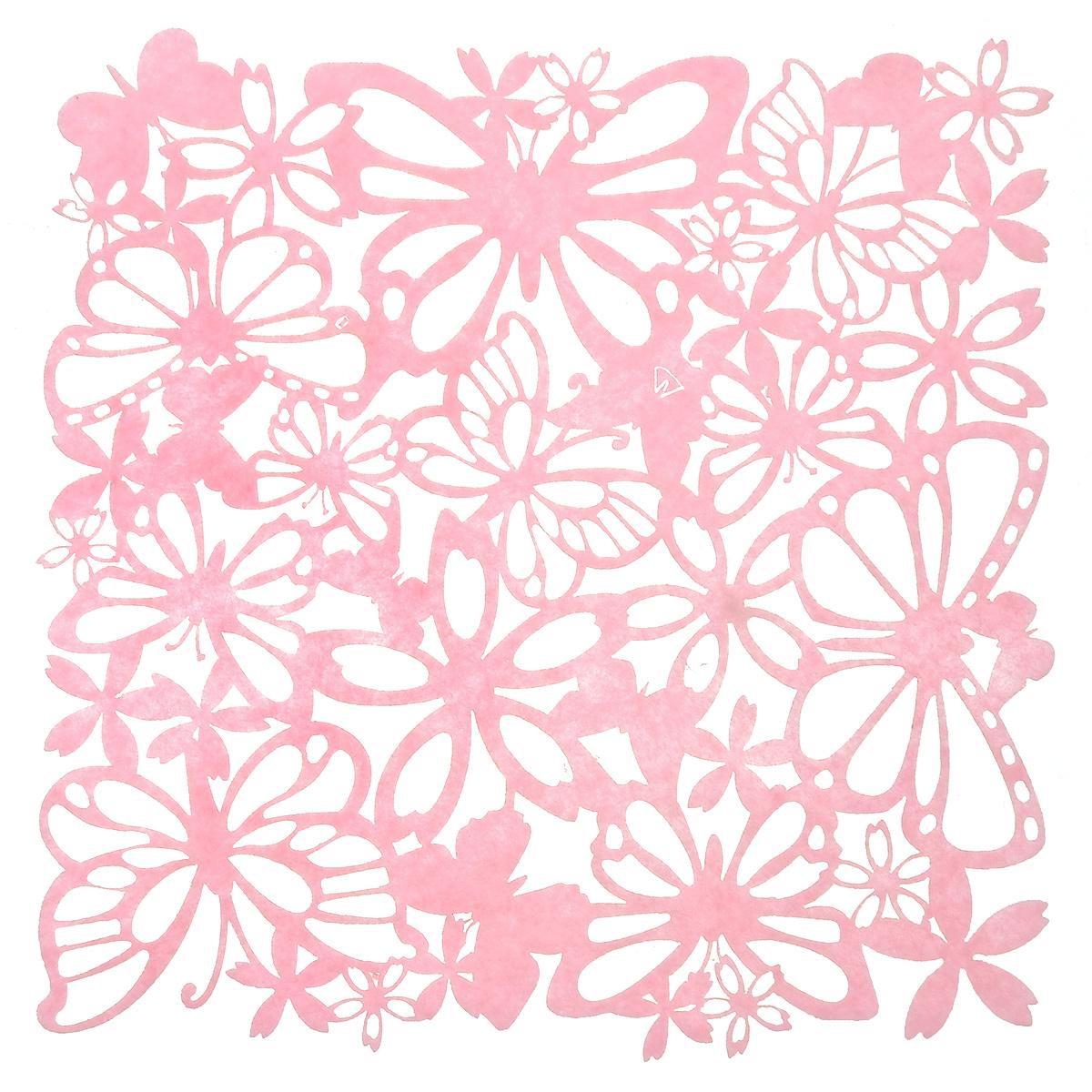Салфетка Home Queen Взмах крыльев, цвет: розовый, 30 см х 30 см66841Квадратная салфетка Home Queen Взмах крыльев изготовлена из фетра и оформлена изысканной перфорацией в виде цветочных узоров и бабочек. Такая салфетка прекрасно подойдет для украшения интерьера кухни, она сбережет стол от высоких температур и грязи.