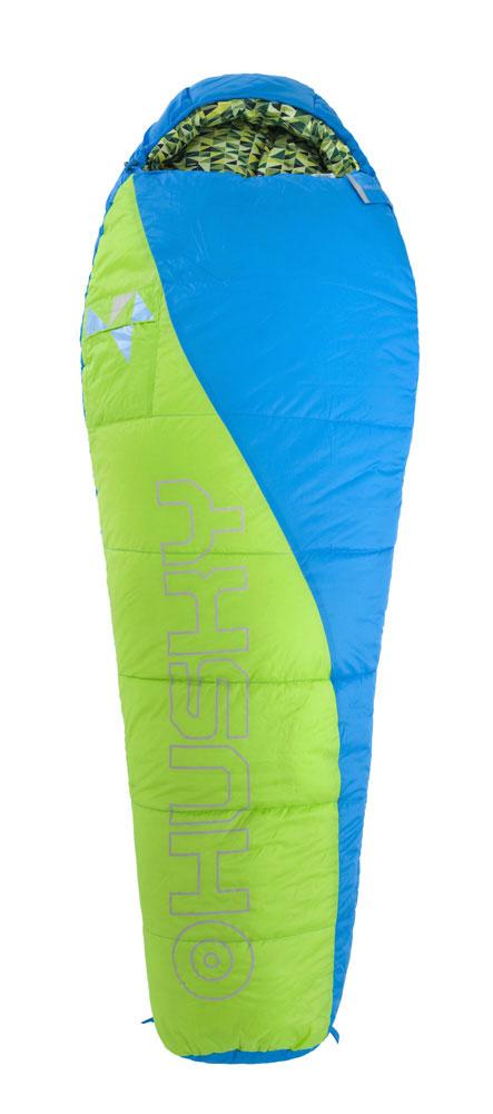 цены Спальный мешок Husky Kids Green, правосторонняя молния, цвет: синий, зеленый