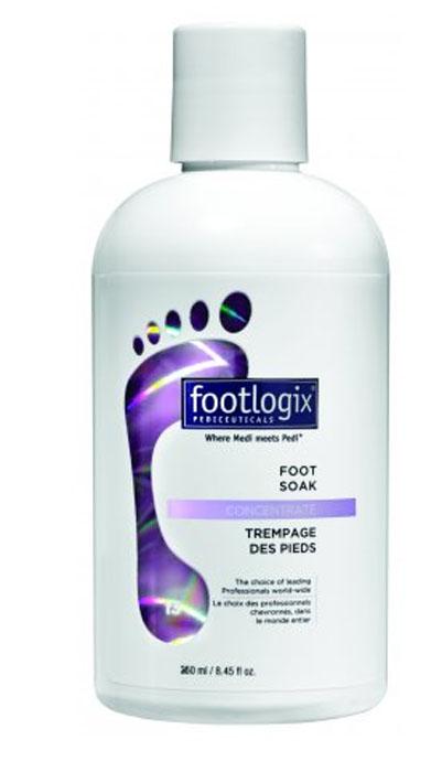 Footlogix Мыло жидкое анти-бактериальное для ног, 250 млFXP13R0250-13Эффективное мягкое очищающее средство и увлажняющая ванна для ног Ванна для ног мягко очищает, увлажняет и смягчает сухую, грубую кожу и мозоли, подготавливает кожу для педикюра – для достижения оптимального результата. Содержит мочевину и антимикробные компоненты, имеет сбалансированныи? рН. Не содержит алкоголь и синтетические масла. Имеет легкии? свежии? аромат. Может использоваться для диабетиков, людеи? с чувствительнои? кожеи? и страдающих аллергиеи?. Гигиеническои? дозатор помогает отмерить необходимое количество продукта, предотвращает взаимодеи?ствие с воздухом и окисление продукта, в результате чего имеет более длительныи? срок хранения. Используется как подготовительныи? шаг для любои? процедуры для ног.