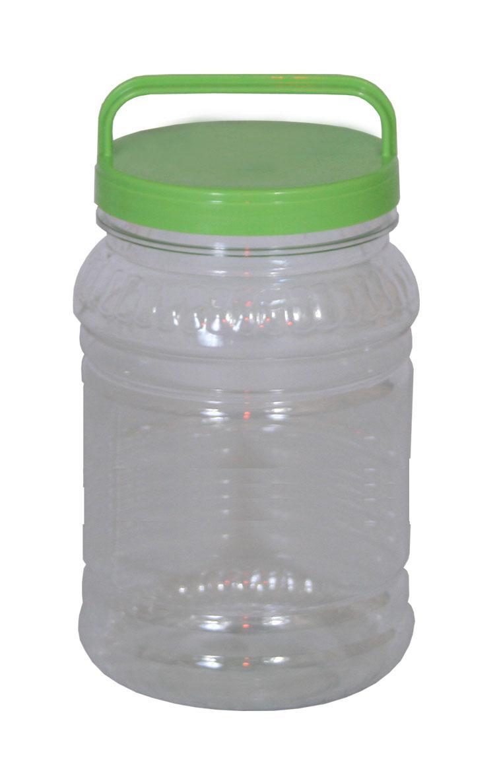 Бидон Альтернатива, цвет: прозрачный, зеленый, 2 л