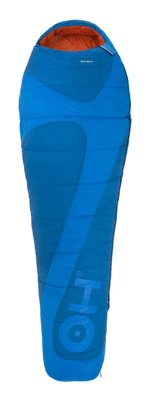 Спальный мешок Husky Montello, правосторонняя молния, цвет: голубой