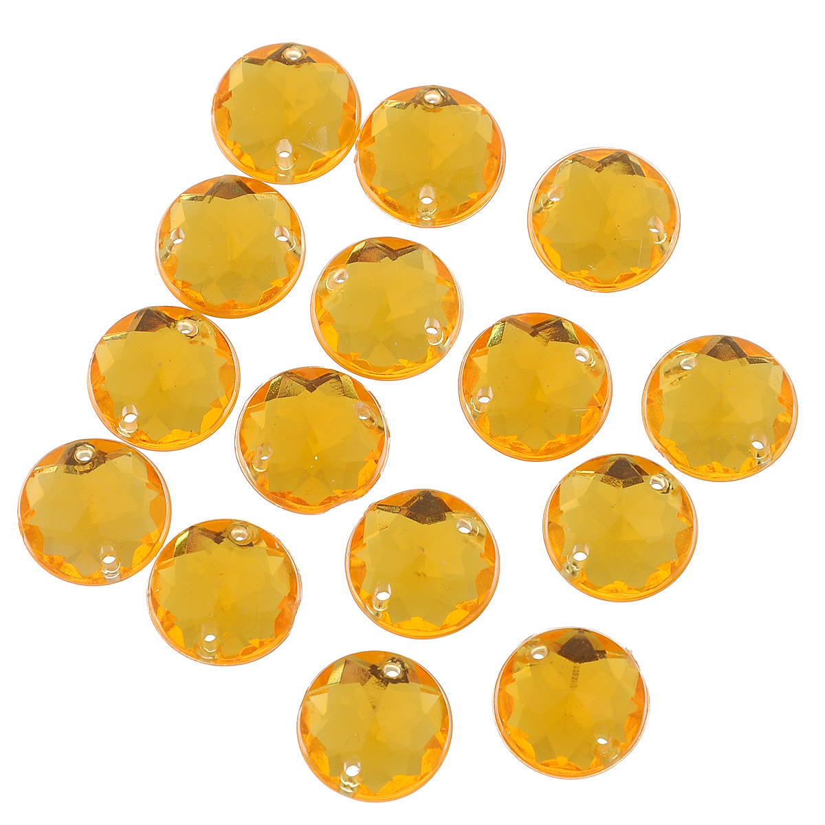 Стразы пришивные Астра, цвет: оранжевый (11), диаметр 11 мм, 15 шт. 7701645_117701645_11Набор страз Астра, изготовленный из акрила, позволит вам украсить одежду и аксессуары. Стразы оригинального и яркого дизайна круглой формы оснащены отверстиями для пришивания.Украшение стразами поможет сделать любую вещь оригинальной и неповторимой.Диаметр: 11 мм.