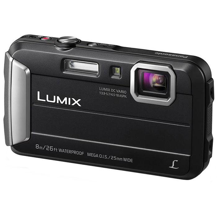 Panasonic Lumix DMC-FT30, Black цифровая фотокамераDMC-FT30EE-KPanasonic Lumix DMC-FT30 отличается повышенной надежностью и работает под водой на глубине до 8 м / 26 футов. Режимы замедленной съемки, Творческой панорамы и масса прочих, а также богатый арсенал замечательных фильтров делают работу с камерой еще приятнее.Водостойкость и надежность для экстремального использования:Порадуйте себя удобной универсальной сьемкой как в городе, так на природе. Эта модель идеально подходит для любых условий.Встроенная память 220 МБ:220 МБ встроенной памяти для лишних 34 кадров на случай, если память на карте закончится.Восхитительные фотографии под водой:Воспроизведение красного цвета в режиме расширенной подводной съемки компенсирует недостаток красного цвета при подводной съемке и делает изображение более натуральным и естественным. Режимы Спорт, Снег и Пляж и серфинг также легко доступны в удобном меню.MEGA O.I.S. (Оптический стабилизатор изображения):MEGA O.I.S. (оптический стабилизатор изображения) уравновешивает дрожание рук при съемке, что предотвращает размытие фотографий. Даже малейшая дрожь рук точно улавливается с частотой до 4000 раз в секунду и компенсируется для обеспечения высокой четкости и ясности изображения.Творческая панорама:Творческая панорама позволяет делать горизонтальные и вертикальные панорамные снимки, последовательно накладывая кадры друг на друга, и отражать эффекты фильтров Творческого контроляТворческий контроль и Творческая ретушь:Творческий контроль (в режиме записи) и Творческая ретушь (в режиме воспроизведения) дарят вам возможность проявить свой творческий талант и преобразить обыденные ситуации в совершенно особенные сцены.Эффекты фильтров Выразительный. Ретро. Высокий ключ, Низкий ключ, Сепия, Динамический монохромный. Выразительное искусство. Высокодинамичный, Кросс-процесс, Игрушечный эффект, Эффект миниатюры, Один оттенокЗапись видео в формате MP4HD:Камера позволяет записывать динамическое видео в формате МР4 HD 1280х720р. Запись видео