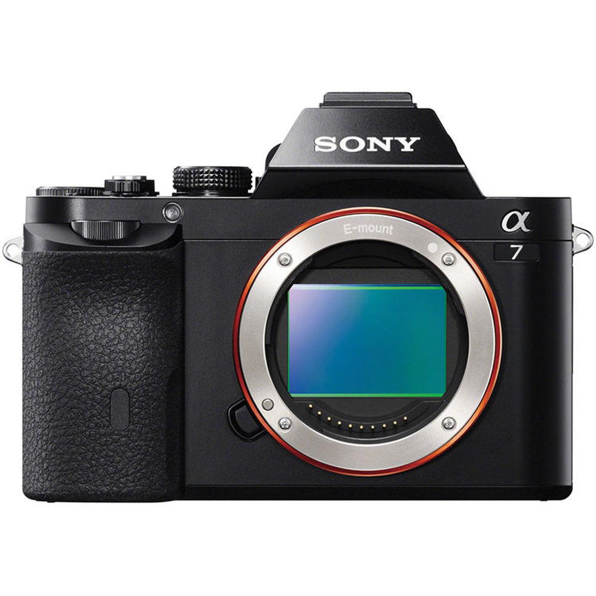Sony Alpha A7 Body, Black цифровая фотокамераILCE7B.RU2Камера Sony Alpha 7 с байонетом Е и полнокадровой матрицей:35-мм полнокадровая матрица 24,3 Мпикс:Компания Sony, один из ведущих производителей матриц, объединила свои передовые технологии, чтобы добиться самых высоких показателей разрешения и качества изображения в истории. Эта революционная 35-мм полнокадровая матрица Exmor CMOS фиксирует свет с рекордной эффективностью для обеспечения высокой чувствительности, широкого динамического диапазона и непревзойденного уровня реализма при значительном снижении уровня шума.Процессор BIONZ X:Sony с гордостью представляет процессор изображений BIONZ X, который благодаря дополнительным возможностям высокоскоростной обработки данных тщательно воспроизводит текстуры и мелкие детали в режиме реального времени так же, как Вы их видите невооруженным глазом. В сочетании с большой интегральной схемой внешнего доступа, которая ускоряет обработку на самых ранних этапах, он обеспечивает более естественное представление деталей, более реалистичную передачу изображений, точные градации оттенков и снижение уровня шума, как при съемке фотографий, так и при записи видео.Воспроизведение деталей и снижение дифракции:Две новые технологии позволяют полностью реализовать преимущества матрицы и объективов. Технология воспроизведения деталей предотвращает чрезмерное выделение контуров, что является недостатком большинства цифровых изображений. Технология снижения дифракции подавляет эффекты дифракции, из-за которых точечные источники света кажутся размытыми, особенно при низких значениях диафрагмы (высокие значения F-чисел). Учитывая настройки диафрагмы, эта технология тщательно восстанавливает четкость точечных источников света и других мелких деталей для живописных пейзажей, портретов и многого другого.Подавление шума в отдельных областях снимка:Подавление шума в отдельных областях снимка теперь мощнее, чем когда-либо. Эта технология выборочно разделяет изображение на области на основе обра