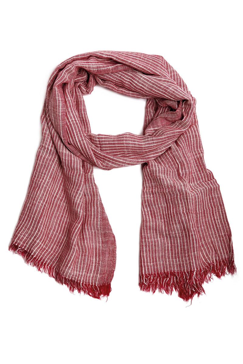 Шарф мужской Moltini, цвет: красный, белый. 31004-14C. Размер 200 см х 80 см