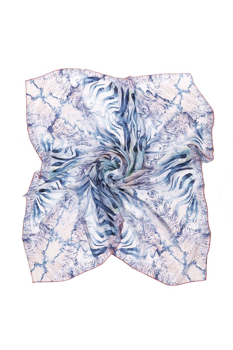 Платок женский Moltini, цвет: голубой, оранжевый. 20022-10I. Размер 135 см х 135 см20022-10IЯркий и стильный платок Moltini станет великолепным завершением любого наряда. Платок изготовлен из высококачественного шелка и оформлен красочным абстрактным принтом и контрастной окантовкой. Классическая квадратная форма позволяет носить его на шее, украшать прическу или декорировать сумочку. Мягкий и шелковистый платок поможет вам создать оригинальный женственный образ.Такой платок превосходно дополнит любой наряд и подчеркнет ваш неповторимый вкус и элегантность.