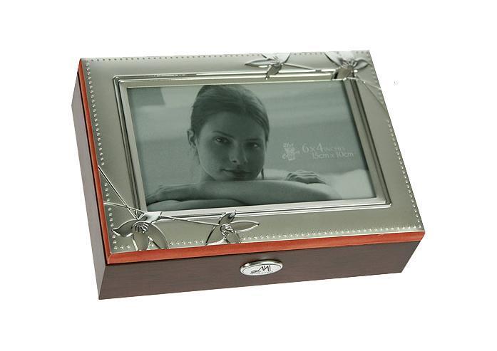Шкатулка-фоторамка для ювелирных украшений Moretto, 18 х 13 х 5 см. 139526
