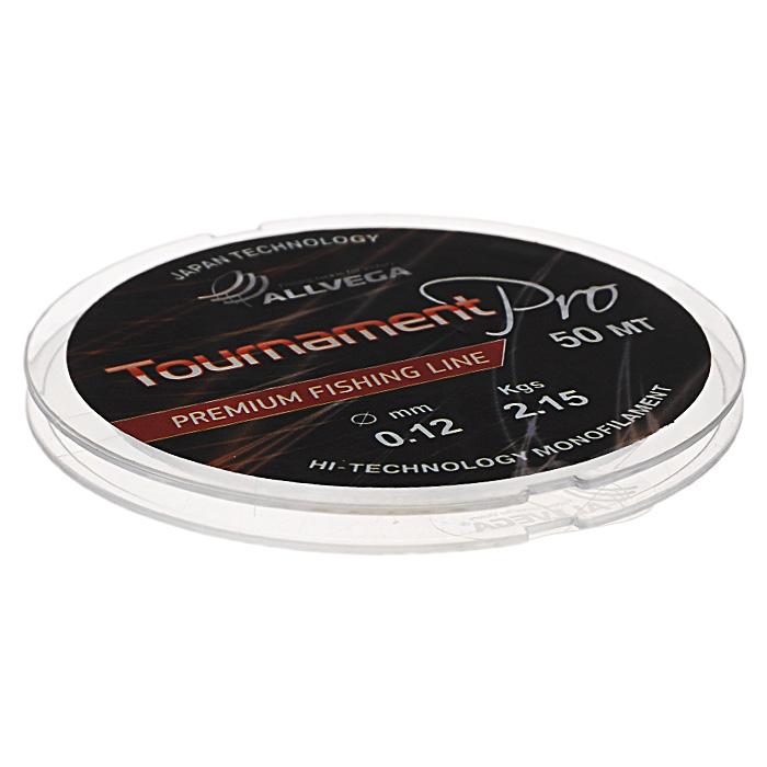 Леска Allvega Tournament Pro, цвет: прозрачный, 50 м, 0,12 мм, 2,15 кг аккумулятор интерскол да 18эр li ion 1 5ah 18v 2400 016