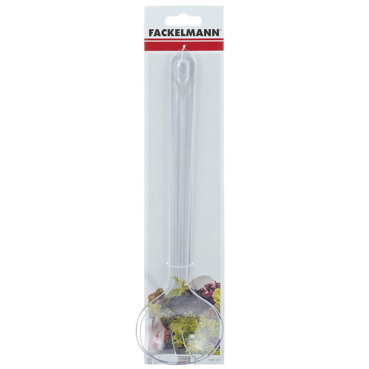 """Ложки """"Fackelmann"""" выполнены из прозрачного пластика и предназначены для перемешивания, сервировки и  порциона салата. На конце ручек имеются небольшие отверстия, за которые ложки можно подвесить в любом  удобном для вас месте.  Практичные и удобные ложки """"Fackelmann"""" займут достойное место среди аксессуаров на вашей кухне. Можно мыть в посудомоечной машине.  Длина ложки: 29,5 см. Размер рабочей поверхности: 8 см х 6 см."""