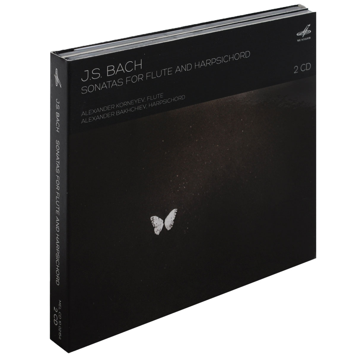 J. S. Bach. Sonatas For Flute And Harpsichord (2 CD) sonatas