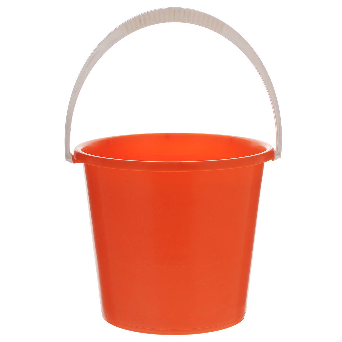 Ведро Альтернатива Крепыш, цвет: оранжевый, 7 лК342Ведро Альтернатива Крепыш изготовлено из высококачественного одноцветного пластика. Оно легче железного и не подвержено коррозии. Ведро оснащено удобной пластиковой ручкой. Такое ведро станет незаменимым помощником в хозяйстве. Диаметр: 25 см.Высота: 22 см.