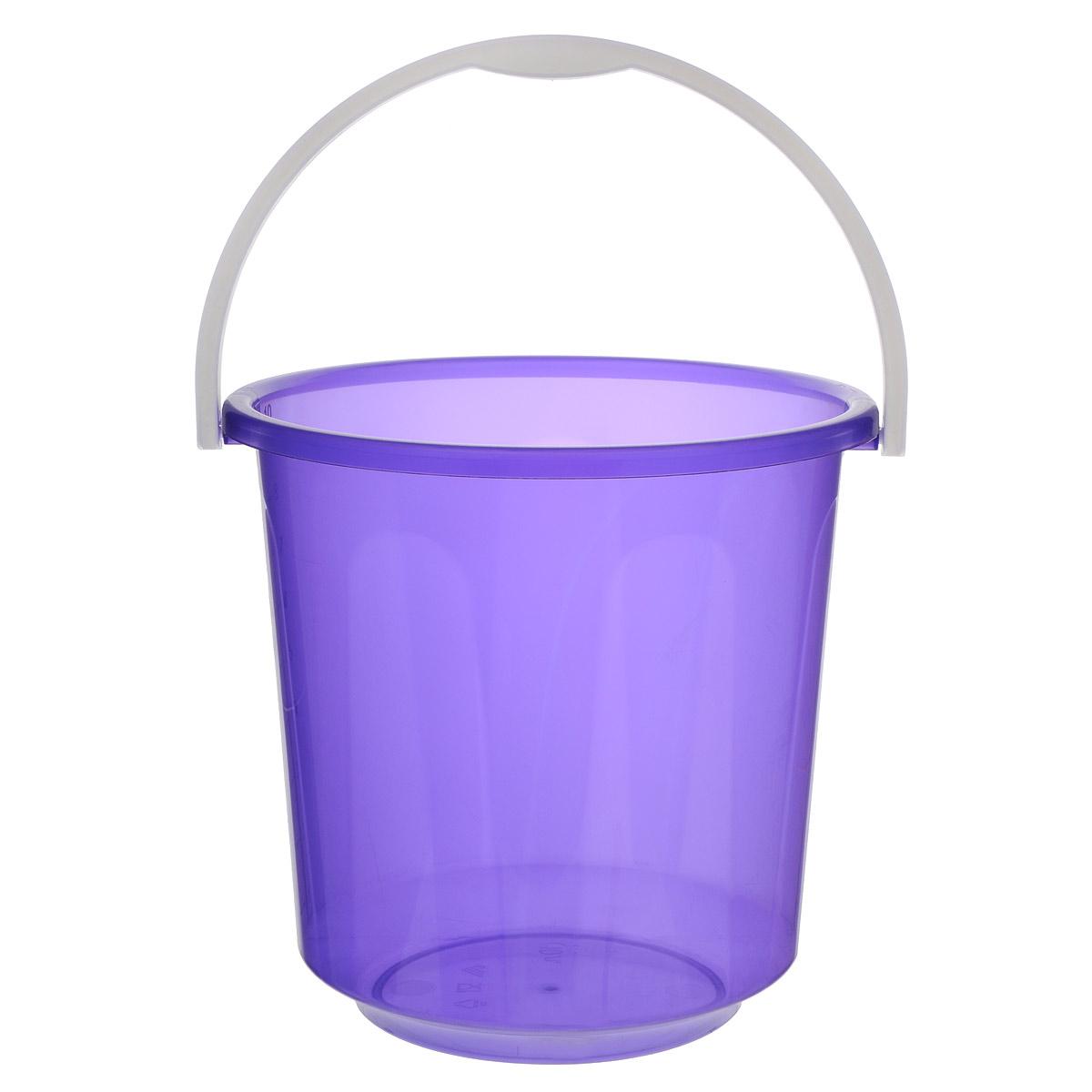 Ведро Альтернатива Хозяюшка, цвет: фиолетовый, 10 лМ1212Ведро Альтернатива Хозяюшка изготовлено из высококачественного пластика и оснащено отметками литража. Оно легче железного и не подвержено коррозии. Ведро имеет удобную пластиковую ручку. Такое ведро станет незаменимым помощником в хозяйстве. Идеально для хранения пищевых отходов.Диаметр: 27 см.Высота: 26 см.