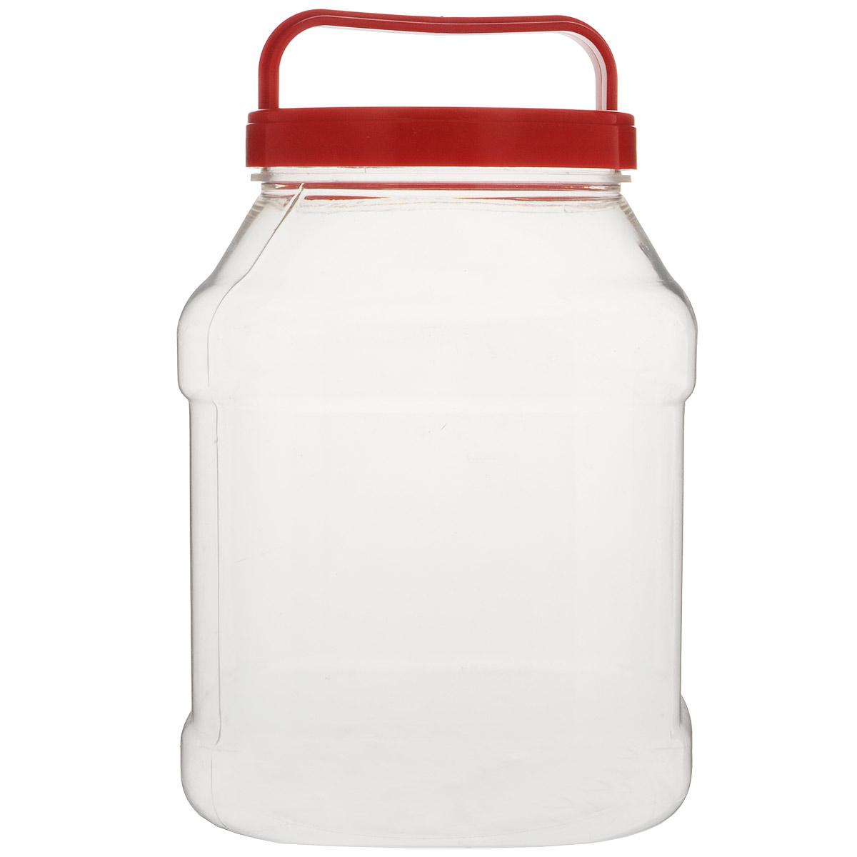 Бидон Альтернатива, прямоугольный, цвет: красный, 3 лМ463Бидон Альтернатива предназначен для хранения и переноски пищевыхпродуктов, таких какмолоко, вода и прочее. Изделие выполнено из пищевого высококачественного ПЭТ.Оснащен ручкойдля удобной переноски. Бидон Альтернатива станет незаменимым аксессуаром на вашей кухне.Диаметр: 10,5 см.Высота бидона (без учета крышки): 19 см. Размер дна: 15 см х 15 см.