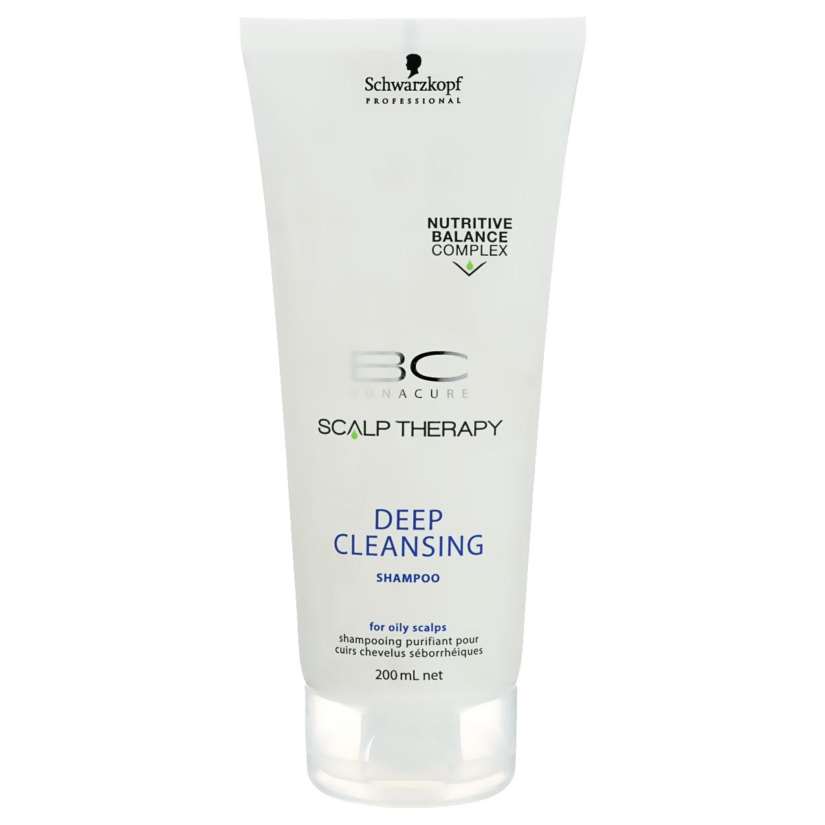 Bonacure Шампунь для глубокого очищения Scalp Therapy Deep Cleansing Shampoo 200 мл1753144Очищающий шампунь для всех типов волос, выглядящих маслянистыми и для жирной кожи головы. Поверхностно - активные вещества, полученные из кокоса мягко, но эффективно очищает кожу головы. Благодаря ментолу шампунь оставляет ощущение чистоты и свежести. Пантенол поддерживает необходимый баланс влаги.