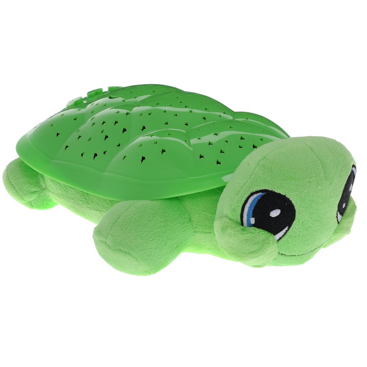 Ночник-проектор Мульти-Пульти Волшебная черепаха, цвет: салатовыйBY8006A-RU (12)_салатовыйНочник-проектор Мульти-Пульти Волшебная черепаха создаст волшебную атмосферу для сна ребенка.Это удивительный светильник, выполненный в форме мягкой игрушки-черепашки. Дизайн игрушки наверняка сразу понравится вашему малышу и завоюет его безграничную любовь.Глазки и ротик черепашки вышиты нитками. Благодаря своему волшебному панцирю черепашка имеет возможность проецировать на потолок и стену звездное небо. Ночник может работать в четырех цветовых режимах: с подсветкой красного, синего, зеленого и оранжевого цветов. Режима мигания света также четыре. Для убаюкивания малыша черепашка проигрывает фрагменты следующих колыбельных: Спят усталые игрушки, Спи, моя радость, усни и Колыбельная медведицы.Для переключения режимов выбора цвета, мигания света и мелодий на панцире черепахи расположены специальные кнопки. В комплект входит инструкция по эксплуатации на русском языке.Необходимо докупить 3 батарейки напряжением 1,5V типа ААА (не входят в комплект).